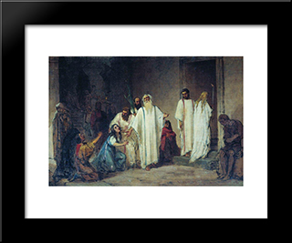 Before Entering The Arena: Modern Black Framed Art Print by Fyodor Bronnikov