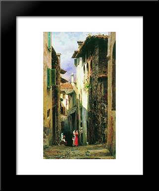 Bellagio: Modern Black Framed Art Print by Fyodor Bronnikov