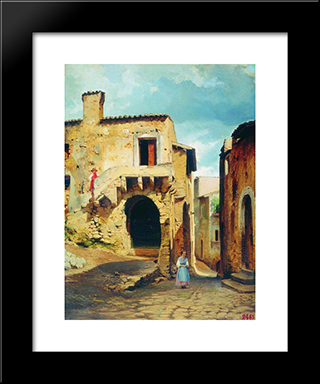 Buildings: Modern Black Framed Art Print by Fyodor Bronnikov