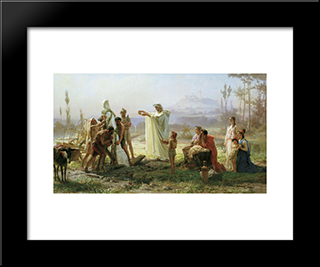 Consecration Of The Herm: Modern Black Framed Art Print by Fyodor Bronnikov