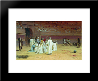 Entering The Arena: Modern Black Framed Art Print by Fyodor Bronnikov