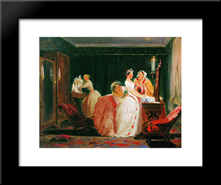 Fees For The Crown: Modern Black Framed Art Print by Fyodor Bronnikov