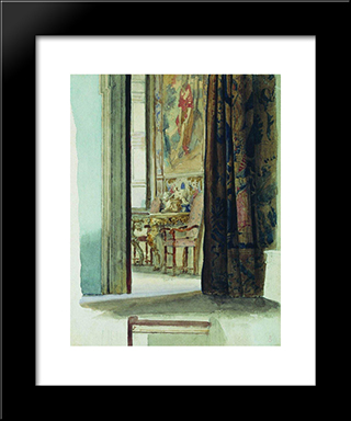 Fragment Of The Interior: Modern Black Framed Art Print by Fyodor Bronnikov