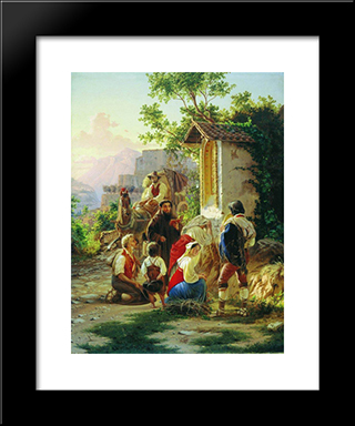 In The Chapel: Modern Black Framed Art Print by Fyodor Bronnikov