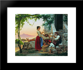 In The Family: Modern Black Framed Art Print by Fyodor Bronnikov