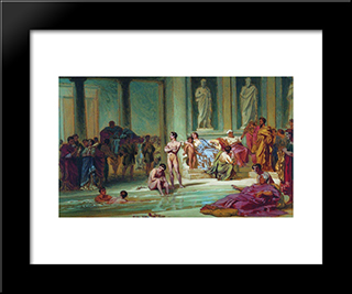 In The Roman Baths: Modern Black Framed Art Print by Fyodor Bronnikov