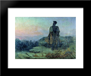 Judas: Modern Black Framed Art Print by Fyodor Bronnikov