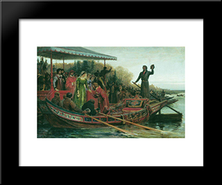 Meeting Of Princess: Modern Black Framed Art Print by Fyodor Bronnikov