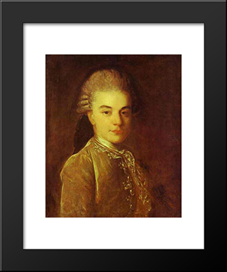Portrait Of A.M.Rimskiy-Korsakov: Modern Black Framed Art Print by Fyodor Rokotov
