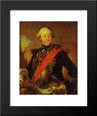Portrait Of Count G.G.Orlov: Modern Black Framed Art Print by Fyodor Rokotov