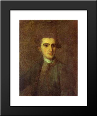 Portrait Of N.E.Struisky: Modern Black Framed Art Print by Fyodor Rokotov
