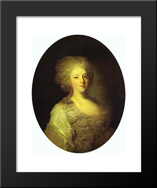 Portrait Of Praskovya Nikolayevna Lanskaya: Modern Black Framed Art Print by Fyodor Rokotov