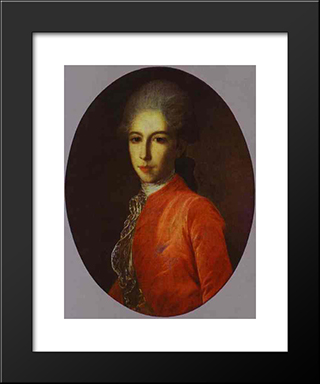 Portrait Of Prince Ivan Bariatinsky As A Youth: Modern Black Framed Art Print by Fyodor Rokotov