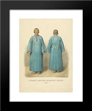 The Coat From Armoury: Modern Black Framed Art Print by Fyodor Solntsev