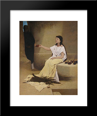 Light: Modern Black Framed Art Print by Gabriel von Max