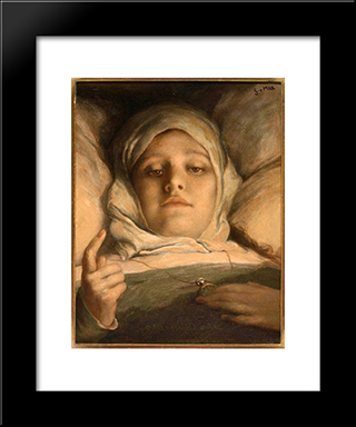 Oh Man, Take Heed 1895: Modern Black Framed Art Print by Gabriel von Max