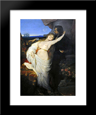 Tannhauser: Modern Black Framed Art Print by Gabriel von Max