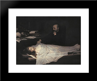 The Anatomist 1869: Modern Black Framed Art Print by Gabriel von Max