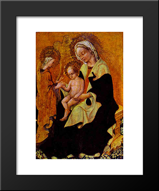 Betrothal Of Catherine Of Alexandria: Modern Black Framed Art Print by Gentile da Fabriano