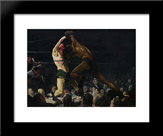 Both Members Of This Club: Modern Black Framed Art Print by George Bellows
