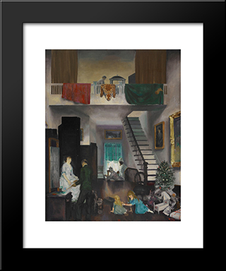 The Studio: Modern Black Framed Art Print by George Bellows
