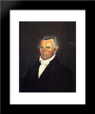Dr. John Sappington: Modern Black Framed Art Print by George Caleb Bingham