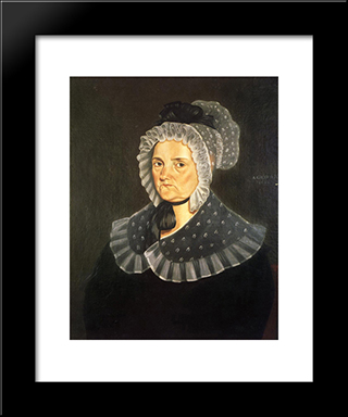Jane Breathitt Sappington: Modern Black Framed Art Print by George Caleb Bingham