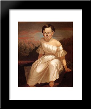 Miss Sallie Ann Camden: Modern Black Framed Art Print by George Caleb Bingham