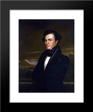 Samuel Bullitt Churchill: Modern Black Framed Art Print by George Caleb Bingham