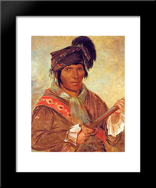 Co-Ee-Ha-Jo, A Seminole Chief: Modern Black Framed Art Print by George Catlin