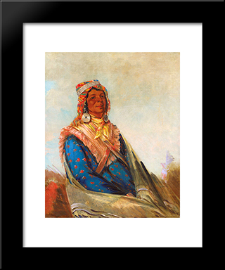 Hol-Te-Mal-Te-Tez-Te-Neek-Ee, Sam Perryman (Creek Chief): Modern Black Framed Art Print by George Catlin