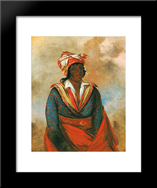 Kot-Tee-O-Tob-Bee, How Did He Kill, A Noted Brave (Choctaw): Custom Black Wood Framed Art Print by George Catlin
