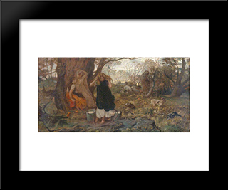 Only A Shower: Modern Black Framed Art Print by George Hemming Mason