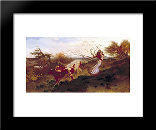 Wind On The Wold: Modern Black Framed Art Print by George Hemming Mason