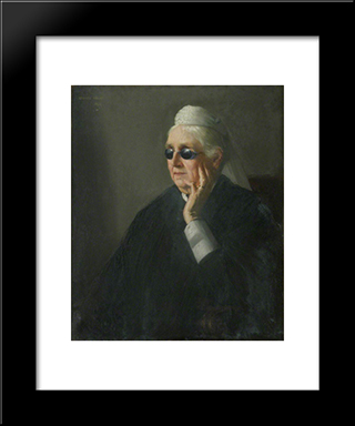 Annette Peile: Modern Black Framed Art Print by George Henry