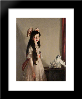 Beauty And The Beast: Modern Black Framed Art Print by George Henry