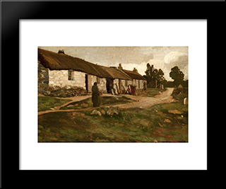 Brig O' Turk: Modern Black Framed Art Print by George Henry