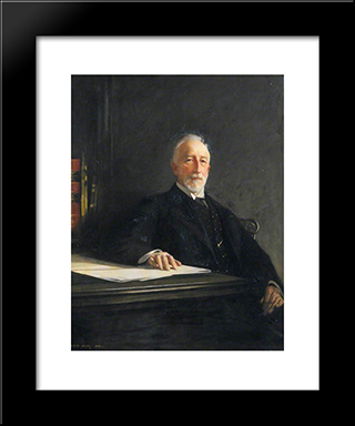 David Gill: Modern Black Framed Art Print by George Henry