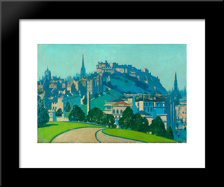 Edinburgh: Modern Black Framed Art Print by George Henry