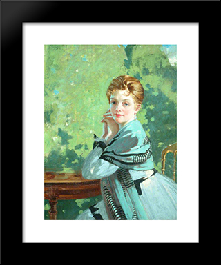 Felicity: Modern Black Framed Art Print by George Henry