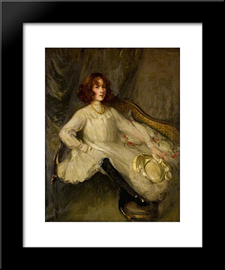 Helen Stirling Stuart Of Castlemilk: Modern Black Framed Art Print by George Henry