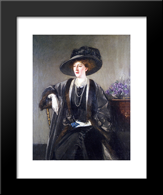 Mrs. Kirkwood: Modern Black Framed Art Print by George Henry