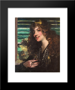 Nell: Modern Black Framed Art Print by George Henry