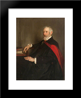 Professor George Gilbert Ramsay: Modern Black Framed Art Print by George Henry