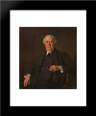 Sir Hector Clare Cameron, President Of The Faculty Of Physicians And Surgeons Of Glasgow: Modern Black Framed Art Print by George Henry