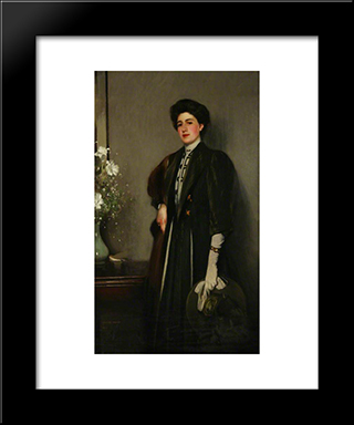 The Green Hat: Modern Black Framed Art Print by George Henry