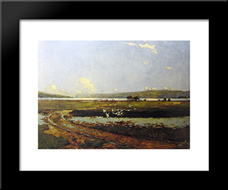 The Head Of The Holy Loch: Modern Black Framed Art Print by George Henry