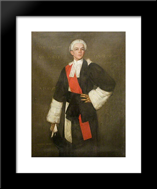 The Honourable Mr Justice Darling, Judge Of The King'S Bench: Modern Black Framed Art Print by George Henry