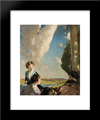 The Reading: Modern Black Framed Art Print by George Henry