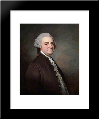 Anthony Todd, Postmaster General: Modern Black Framed Art Print by George Romney